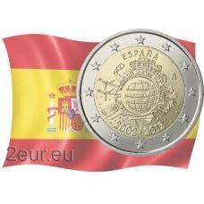 SPAIN 2 EURO 2012 - 10 YEARS OF EURO