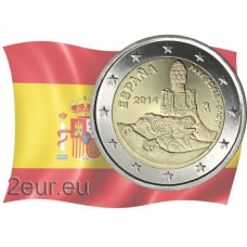 SPAIN 2 EURO 2014 - ANTONIO GAUDI - PARK GÜELL