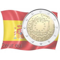 SPAIN 2 EURO 2015 - 30 YEARS OF THE EU FLAG