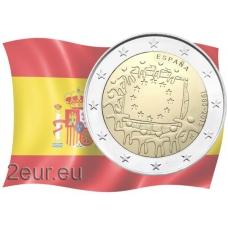 SPAIN 2 EURO 2015 - 30 YEARS OF THE EU FLAG