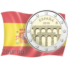 SPAIN 2 EURO 2016 - AQUEDUCT OF SEGOVIA