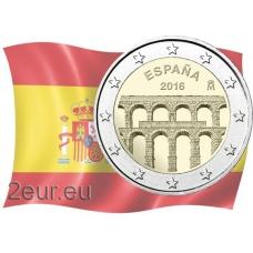 SPAIN 2 EURO 2016 - AQUEDUCT OF SEGOVIA