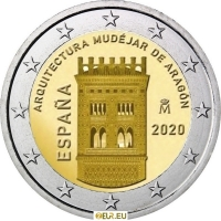 SPAIN 2 EURO 2020 - MUDEJAR ARCHITECTURE IN ARAGON