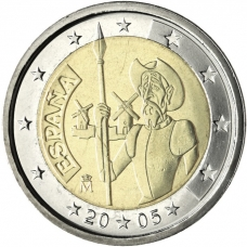 SPAIN 2 EURO 2005 - DON QUIXOTE OF LA MANCHA