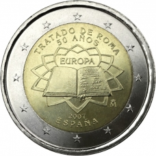 SPAIN 2 EURO 2007 - TREATY OF ROME