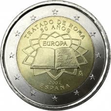SPAIN 2 EURO 2007 - TREATY OF ROME