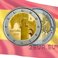 SPAIN 2 EURO 2021 - HISTORIC CITY OF TOLEDO