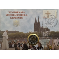 VATICAN 2 EURO 2005 - 20TH WORLD YOUTH DAY - NUMISCOVER