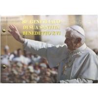 VATICAN 2 EURO 2007- POPE BENEDICT XVI + STAMP