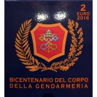 VATICAN 2 EURO 2016 - 200TH ANNIVERSARY OF THE PAPAL GENDARMERIE - PROOF