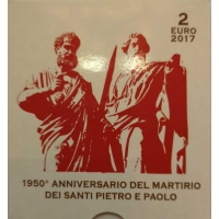 VATICAN 2 EURO 2017 - 1950TH ANNIVERSARY MARTYRDOM SAINT PETER & SAINT PAUL - PROOF