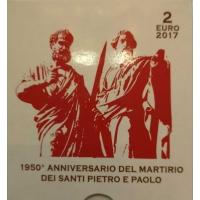 VATICAN 2 EURO 2017 - 1950TH ANNIVERSARY MARTYRDOM SAINT PETER & SAINT PAUL - PROOF