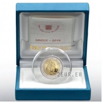 VATICAN 2 EURO 2019/2 - 25TH ANNIVERSARY OF THE RESTORATION OF THE SISTINE CHAPEL - PROOF