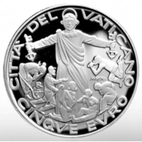 VATICAN 5 EURO 2020 - World Day of Migrants and Refugees - SILVER