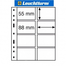 SHEET FOR COINS CARD - OPTIMA (LEUCHTTURM) - 8 COINS