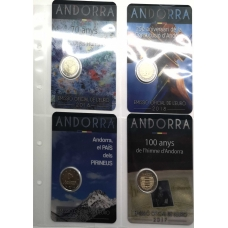 SHEET FOR 2 EURO COINS - ANDORRA AND SAN MARINO