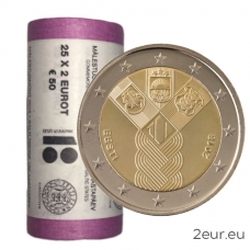 ESTONIA 2 EURO 2018 - 100TH ANNIVERSARY OF THE INDEPENDENCE OF THE BALTIC STATES
