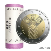 LATVIA 2 EURO 2018 - 100TH ANNIVERSARY OF THE INDEPENDENCE OF THE BALTIC STATES