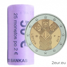 LITHUANIA 2 EURO 2018 - 100TH ANNIVERSARY OF THE INDEPENDENCE OF THE BALTIC STATES