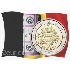 BELGIUM 2 EURO 2012 - 10 YEARS OF EURO