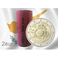 CYPRUS 2 EURO 2012 - 10 YEARS OF EUROr