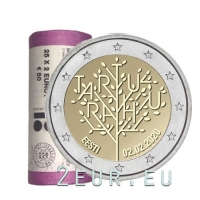 ESTONIA 2 EURO 2020 - 100TH ANNIVERSARY OF THE TARTU PEACE TREATY BETWEEN THE RSFSR AND ESTONIA -ROLL