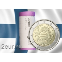 FINLAND 2 EURO 2012 - 10 YEARS OF EURO roll