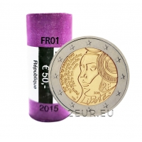 FRANCE 2 EURO 2015 - 225TH ANNIVERSARY OF THE FESTIVAL OF THE FEDERATION roll