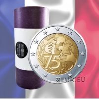 FRANCE 2 EURO 2021 - 75 Years Since the Foundation of UNICEF roll