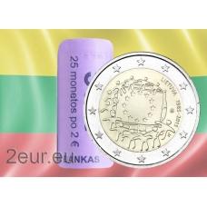 LITHUANIA 2 EURO 2015 - 30 YEARS OF THE EU FLAG