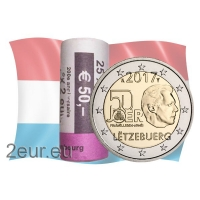 LUXEMBOURG 2 EURO 2017 - MILITARY SERVICEr