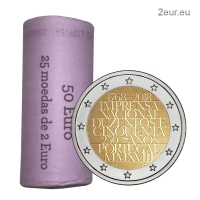PORTUGAL 2 EURO 2018 - 250TH ANNIVERSARY OF THE PRINTING HOUSE