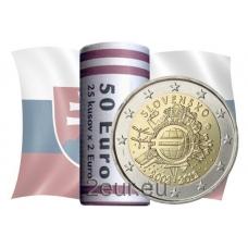 SLOVAKIA 2 EURO 2012 - 10 YEARS OF EURO - ROLL