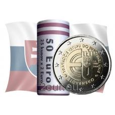 SLOVAKIA 2 EURO 2014 -10 YEARS OF SLOVAKIAN MEMBERSHIP IN EU -ROLL