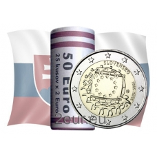SLOVAKIA 2 EURO 2015 - 30 YEARS OF THE EU FLAG - ROLL