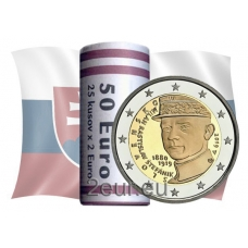SLOVAKIA 2 EURO 2019 - 100TH ANNIVERSARY OF THE DEATH OF MILAN ROSTISLAV STEFANIK -ROLL