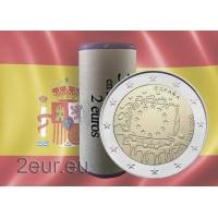 SPAIN 2 EURO 2015 - 30 YEARS OF THE EU FLAG r