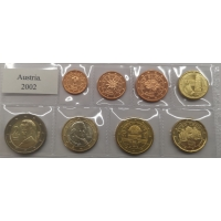 AUSTRIA 2002 - EURO COIN SET