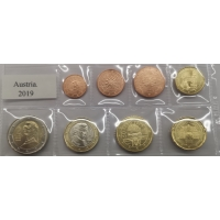 AUSTRIA 2019 - EURO COIN SET