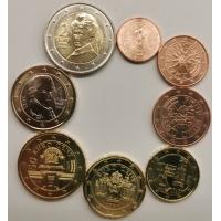 AUSTRIA 2021 - EURO COIN SET - UNC