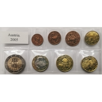 AUSTRIA 2005 - EURO COIN SET