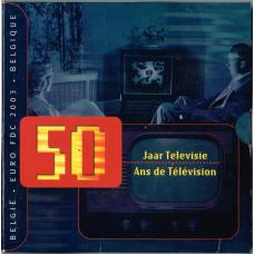 BELGIUM 2003 - EURO COIN SET - 50 YEARS BELGIAN TELEVISION