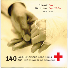 BELGIUM 2004 - EURO COIN SET - 140TH ANNIVERSARY THE BELGIAN RED CROSS