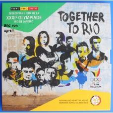 BELGIUM 2016 - EURO COIN SET + COIN RIO DE JANEIRO