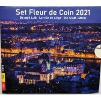 BELGIUM 2021 - EURO COIN SET -De stad Luik