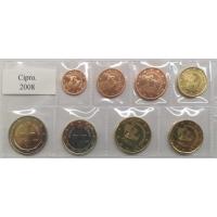 CYPRUS 2008 - EURO LOS SET - UNC