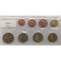 CYPRUS 2012 - EURO LOS SET - UNC