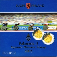 FINLAND 2005 - EURO COIN SET BU -  WORLD ATHLETICS  CHAMPIONSCHIPS