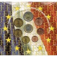 FRANCE 2000 - EURO COIN SET - BU