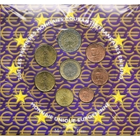 FRANCE 2002 - EURO COIN SET - BU